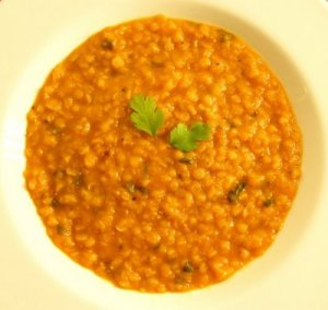 tomato, lentil and coriander soup 3